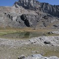 The imposing west face of Old Hyndman Peak.- Hyndman Creek + Hyndman Basin Hike