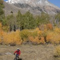 Mountain bikers also enjoy the lower reaches of the Hyndman Basin Trail.- Hyndman Creek + Hyndman Basin Hike