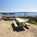 Day use picnic area at Pope Marine Park in Port Townsend.- Port Townsend Waterfront Parks