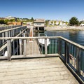 Fishing pier and boat dock at Jackson Tidal Park in Port Townsend.- Port Townsend Waterfront Parks