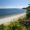 Fort Worden Beach and Admiralty Inlet from Fort Worden State Park.- Fort Worden State Park