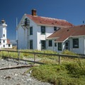 Point Wilson Lighthouse on Fort Worden Beach.- Fort Worden State Park