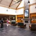 Fort Worden State Park Commons lobby area.- Fort Worden State Park