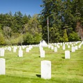 Military cemetery adjacent to Fort Worden State Park.- Fort Worden State Park