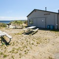 Reservable kitchen shelter at Fort Worden Beach.- Fort Worden State Park Beach Campground + Upper Forest Campground
