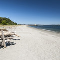 Looking north from Fort Worden Beach.- Fort Worden Beach