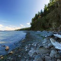 Port Townsend Bay at Fort Townsend State Park.- Fort Townsend State Park Campground