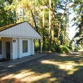 Restroom facilities at Fort Townsend State Park.- Fort Townsend State Park Campground