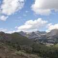 As the trail wraps around open ridges an incredible panoramic view of the Pioneers unfolds.- Johnstone Creek Hike