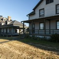 The old hospital (left) and officers quarters (right) at Fort Flagler State Park.- Fort Flagler State Park