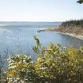 View of Kilisut Harbor from Fort Flagler State Park upper campground.- Fort Flagler State Park Campground