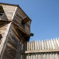 Fort Vancouver's bastion was originally constructed in 1845.- Fort Vancouver National Historic Site
