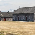 View of Mount Hood (11,249') from Fort Vancouver.- Fort Vancouver National Historic Site