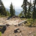 Break area and vista spot along the Mount Ellinor Trail.- Mount Ellinor via Upper Trailhead