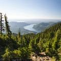 View south of Lake Cushman along the Mount Ellinor Trail.- Mount Ellinor via Upper Trailhead