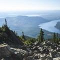 View south toward Lake Cushman and the Hood Canal.- Mount Ellinor via Upper Trailhead