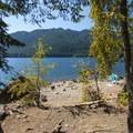 Lake Cushman, North Shore East swimming spot.- Lake Cushman, North Shore East