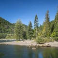 View of Bear Gulch Day Use Area.- Lake Cushman, Bear Gulch Day Use Area