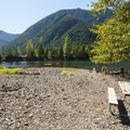 Bear Gulch Day Use Area.- Lake Cushman, Bear Gulch Day Use Area