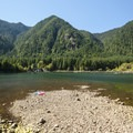 Lake Cushman, Bear Gulch Day Use Area.- Lake Cushman, Bear Gulch Day Use Area