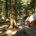 Typical campsite at Staircase Campground.- Staircase Campground