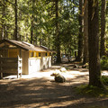Restroom facilities at Staircase Campground.- Staircase Campground