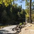 Skokomish River at Staircase Campground.- Staircase Campground