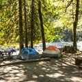 Riverside campsite at Staircase Campground.- Staircase Campground