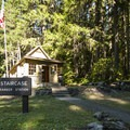 Staircase Ranger Station adjacent to campground.- Staircase Campground