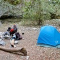 Large flat campsites.- Sykes Hot Springs