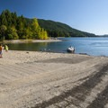 Boat ramp onto Lake Cushman at Skokomish Park South Camp.- Lake Cushman, Skokomish Park South Camp
