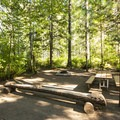 Typical campsite at Skokomish Park South Camp.- Lake Cushman, Skokomish Park South Camp