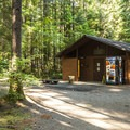 Restroom and shower facilities at Skokomish Park South Camp.- Lake Cushman, Skokomish Park South Camp