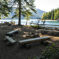 Skokomish Park Day Use Area.- Lake Cushman, Skokomish Park Beach + Day Use Area