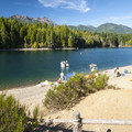 Skokomish Park Beach and Lake Cushman's Big Creek Inlet.- Lake Cushman, Skokomish Park Beach + Day Use Area