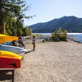 Boat rental at Skokomish Park Day Use Area.- Lake Cushman, Skokomish Park Beach + Day Use Area
