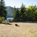 Large group site at Lake Cushman Resort + Campground.- Lake Cushman Resort + Campground