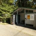 Restroom facilities at Lake Cushman Resort + Campground.- Lake Cushman Resort + Campground