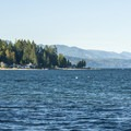 View north of Hood Canal from the day use area in Potlatch State Park.- Potlatch State Park Campground