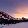 Starry night at Royal Lake.- Olympic National Park