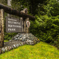 Olympic National Park entrance at the Kalaloch coastline.- Olympic National Park