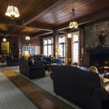 Main hall at Lake Quinault Lodge.- Olympic National Park