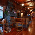 Main hall at Lake Crescent Lodge.- Olympic National Park