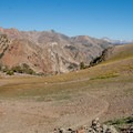 West Pass is a barren, windswept landscape of volcanic rock.- North Fork of the Big Wood - West Pass