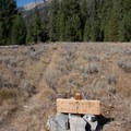The turnoff to West Pass is just under 2 miles out the North Fork Canyon.- North Fork of the Big Wood - West Pass