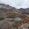 Saddlerock and Bishop lakes.- South Lake, Bishop Pass Trail
