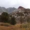 Chocolate Peak (11,682').- South Lake, Bishop Pass Trail
