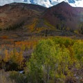 Bishop Pass approach in the fall.- South Lake, Bishop Pass Trail