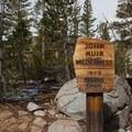 The Bishop Pass Trail enters the John Muir Wilderness.- South Lake, Bishop Pass Trail