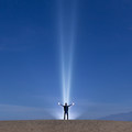 Nightscape over Mesquite Flat Sand Dunes.- Mesquite Flat Sand Dunes